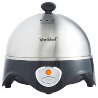 Von Shef Electric Egg Cooker with Steamer and Poacher Attachment