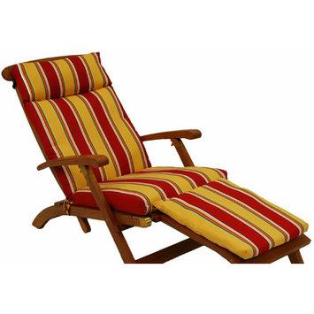 Blazing Needles Monserrat Sangria Patio Chaise Lounge Cushion 9TT-DC-003-REO-33