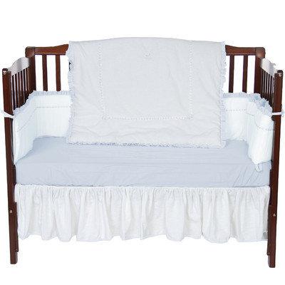 Baby Doll Bedding Unique 4 Piece Crib Bedding Set Color: Blue