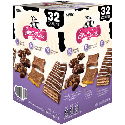 Skinny Cow Dreamy Clusters/Divine Filled Chocolates/Heavenly Crisp Candy Variety Pack