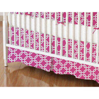 Stwd Links Crib Skirt Color: Hot Pink