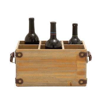 Uma Farmhouse Rustic 6 Bottle Wine Caddy