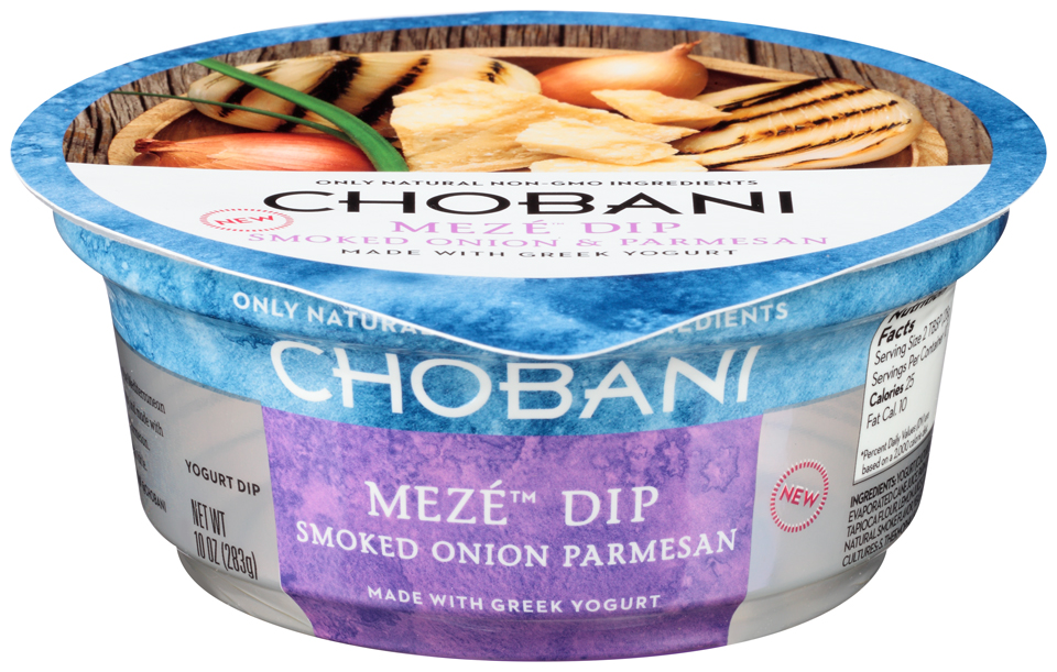 Chobani® Meze™ Smoked Onion Parmesan Greek Yogurt Dip