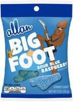 Allan Big Foot Sour Blue Raspberry Gummy Candy 5 oz. Bag