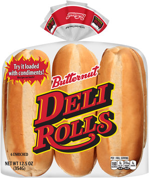 Butternut® Enriched Deli Rolls 6 ct Package