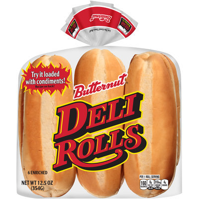 Butternut® Enriched Deli Rolls 6 ct Package