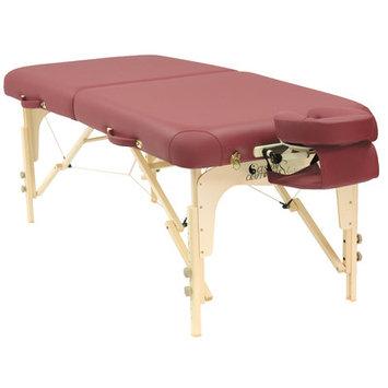 Best Massage Ergonomic Contours, Rounded Corners Custom Craftworks Heritage Table - Burgundy