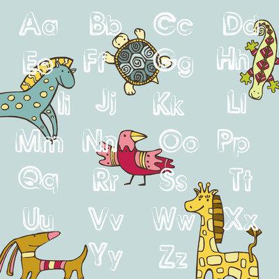 Secretly Designed ABC Animal Paper Print, 8 H x 8 W x 0.25 D