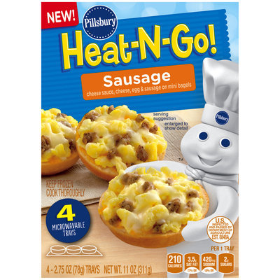 Pillsbury® Heat-N-Go! Sausage Mini Bagels 4-2.75 oz. Trays