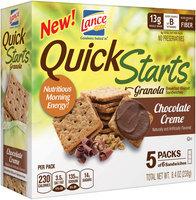 Lance® Quick Starts™ Chocolate Creme Breakfast Biscuit Sandwiches 8.4 oz. Box