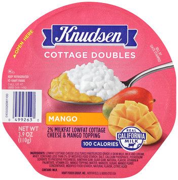 Knudsen Cottage Doubles Cottage Cheese & Mango Topping 3.9 oz. Tray
