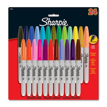 Sanford Ink Corporation Permanent Marker, Fine Point, 24/PK, Assorted