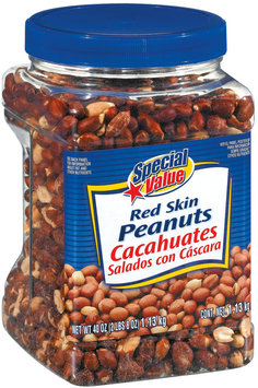 Special Value Red Skin Peanuts 40 Oz Canister