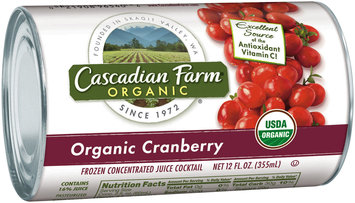 Cascadian Farm® Organic Cranberry Frozen Concentrated Juice Cocktail 12 fl. oz. Can