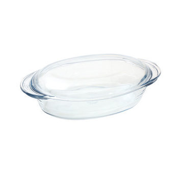 Lancaster Colony GD16450717 Small Oval Casserole with Lid, 2.4 qt, Sleeved, pk 6 st