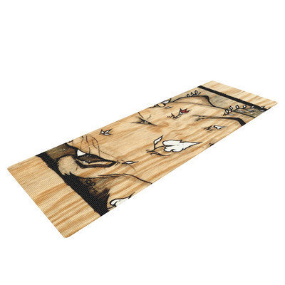 Kess Inhouse Panther by Jennie Penny Yoga Mat