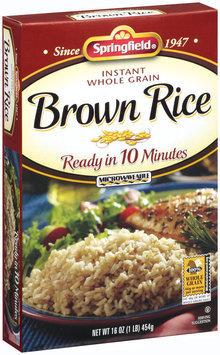 Springfield Brown Instant Whole Grain Rice 16 Oz Box