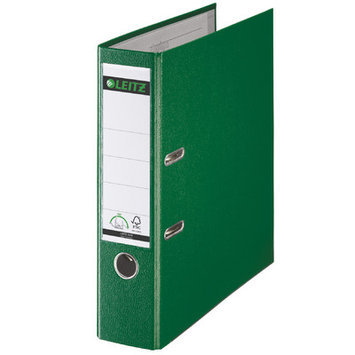 Leitz 180° 10151055 DIN A4 Plastic Lever Arch Folder 80mm Width, Green