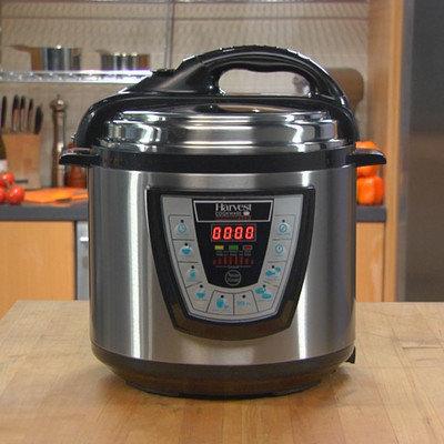 Harvest Direct Pressure Pro Pressure Cooker Size: 8 Quart, Color: Black