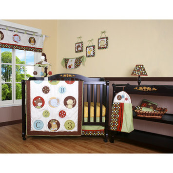 Geenny Boutique Animal Scholar 12 Piece Crib Bedding Set