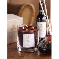 Zodax IG1418 Scented 3 Wick Candle Jar in Wooden Crate Red Cabernet Oak