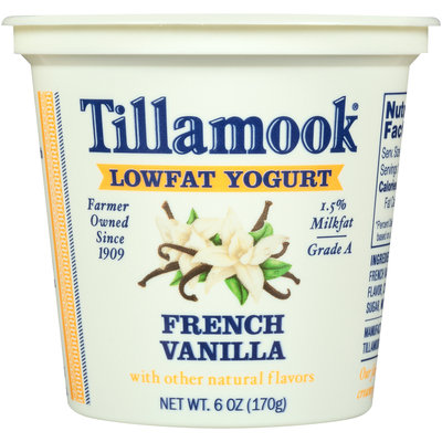 Tillamook® French Vanilla Lowfat Yogurt 6 oz. Cup