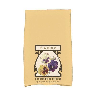 August Grove Sun Valley Pansy Hand Towel Color: Gold