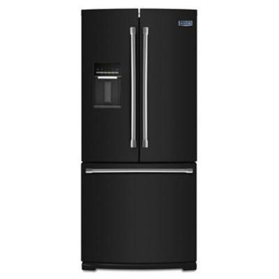 Maytag MFW2055DRE 19.6 Cu. Ft. Black French Door Refrigerator