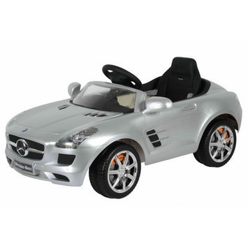About Time Mercedes SLS 6V Battery Powered Kids Pedal Car Color: Silver