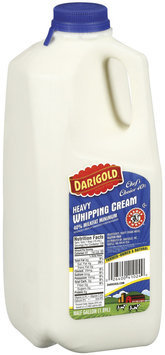 Darigold Heavy 40% Milkfat Minimum  Whipping Cream .5 Gal Jug