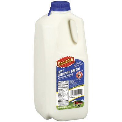 Darigold Heavy 40% Milkfat Minimum  Whipping Cream .5 Gal Jug