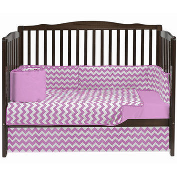 Baby Doll Bedding Chevron 4 Piece Crib Bedding Set Color: Pink