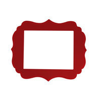 Secretly Designed London Frame Size: 5x7, Color: Barn Red