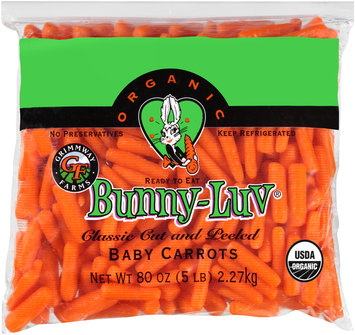 Grimmway Farms Bunny-Luv® Classic Cut and Peeled Organic Baby Carrots 80 oz. Bag