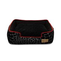 PLAY Kalahari Black Lounge Dog Bed Medium