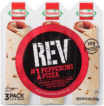 Hormel™ REV™ #1 Pepperoni Pizza Snack Wraps 9 oz Tray