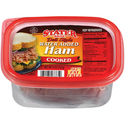 Stater Bros. Deli Style Cooked  Ham 9 Oz Tub