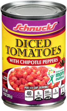 Schnucks® Diced Tomatoes with Chipotle Peppers 10 oz. Can