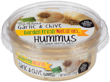 Garden Fresh Naturals® Garlic & Chive Hummus 8 oz. Tub