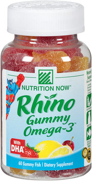 Nutrition Now® Rhino Gummy Omega-3™ 60 ct. Plastic Bottle