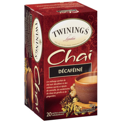 Twinings of London® Chai Decaffeinated Tea Bags 20 ct