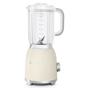Smeg BLF01CRUS Retro Style Blender with 6 Cups Tritan BPA-Free Jug Detachable Stainless Steel Dual Blades Overload Motor Protection 4 Speeds and 3 Preset