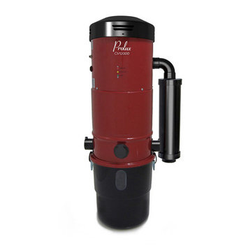 Prolux Central Vacuum Unit System with Electric Hose Power Nozzle Kit Color: Red