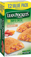 LEAN POCKETS Frozen Sandwiches Ham & Cheese 12-Pack