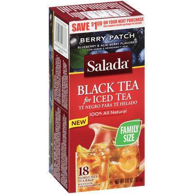 Salada® Tea Bags Black Tea for Iced Tea Berry Patch 18 ct 3.62 oz. Box