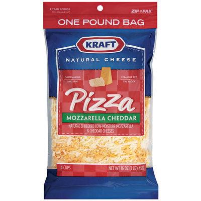Kraft Natural Cheese Pizza Mozzarella Cheddar Shredded Cheese 16 Oz Peg