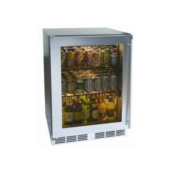 Perlick HC24RB33L C-Series Built-in Refrigerator with 5.2 cu. ft. Capacity 2 Full Extension Pull-Out Shelves Digital Temperature Controller and Stainless Steel