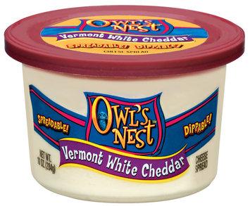 Owl's Nest Vermont White Cheddar Cheese Spread 10 Oz Tub