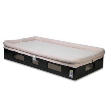 Secure Beginnings SafeSleep Crib Mattress - Espresso/Light Pink