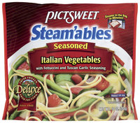 STEAM'ABLES DELUXE Italian W/Fettuccini & Tuscan Garlic Seasoning Vegetables 10 OZ STAND UP BAG